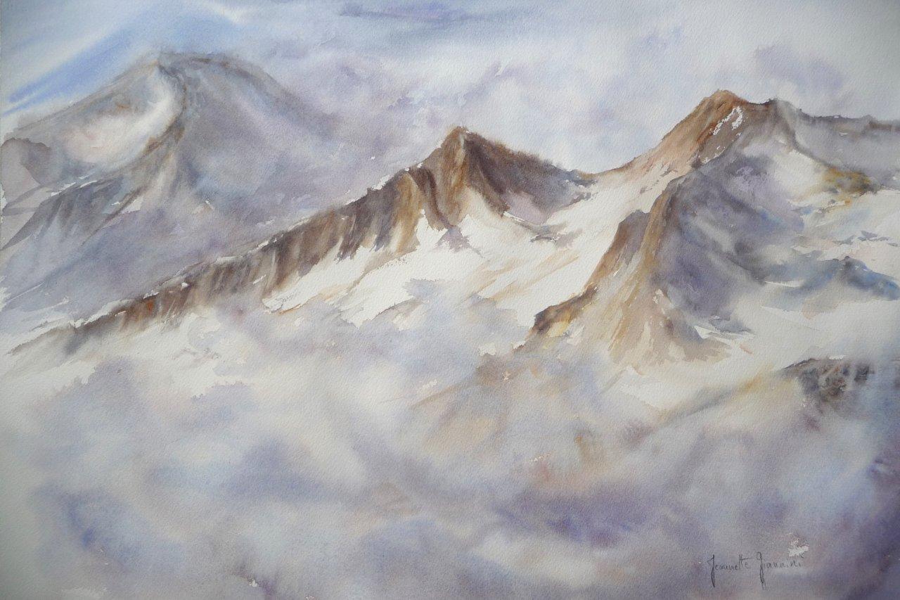 Pyrénées  au loin massif du Néouvielle   130€