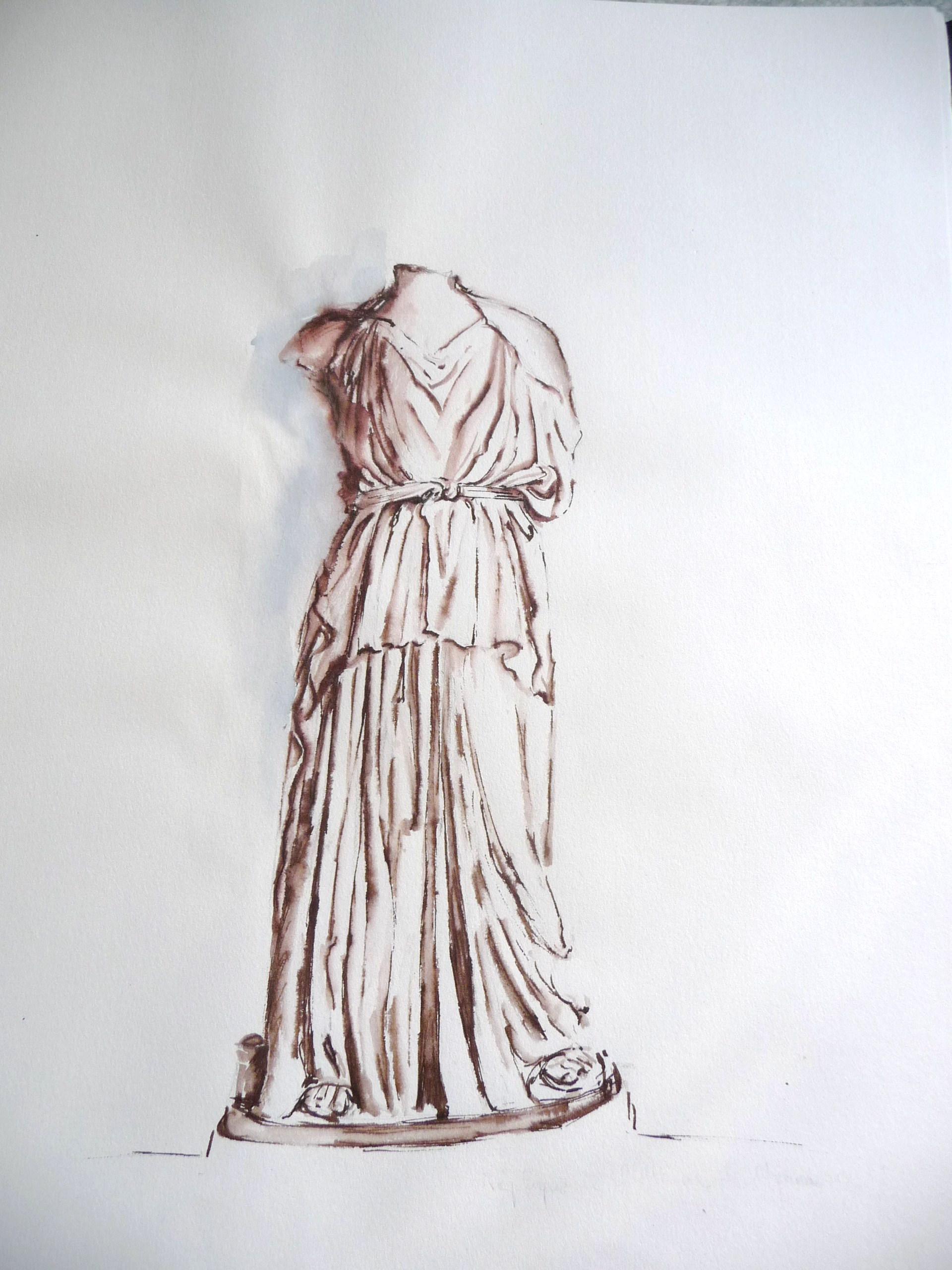 Encre - Drapés antiques